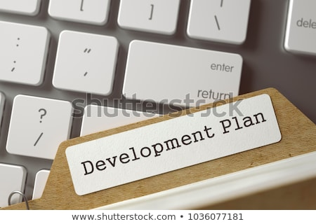 Sort Index Card with Project Plan. 3D. Stock photo © tashatuvango