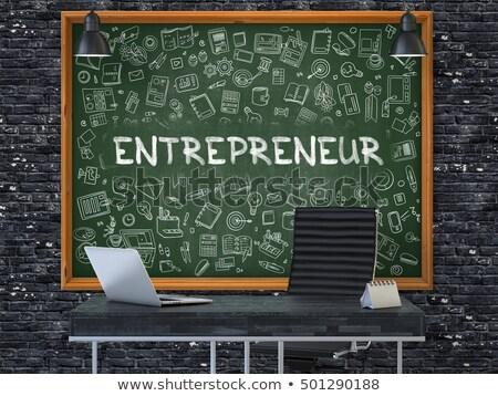 Faible tableau entrepreneur 3D texte Photo stock © tashatuvango
