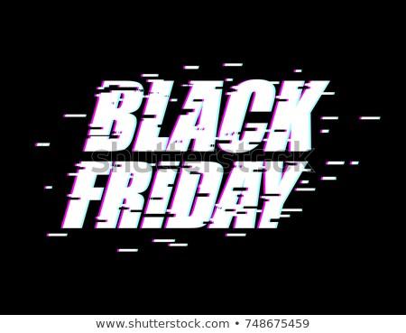 Black friday efeito emblema site exibir loja on-line Foto stock © MaryValery