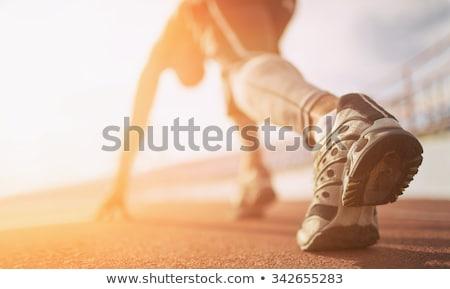 Sport atletiek lijn ontwerp water golf Stockfoto © Genestro