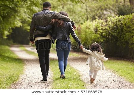 Férfi nő sétál felfelé vidék sáv Stock fotó © IS2