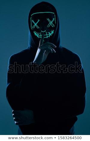 Portret przestępca mężczyzna osoby patrząc kamery Zdjęcia stock © stevanovicigor