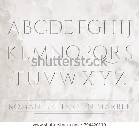 Anciens romaine script colonne Rome Italie Photo stock © boggy