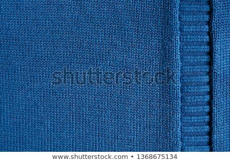 azul · de · punto · lana · patrón · textura · resumen - foto stock © ivelin