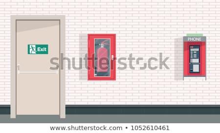 silueta · puerta · mujer · sexy · mujer · luz · femenino - foto stock © meisuseno