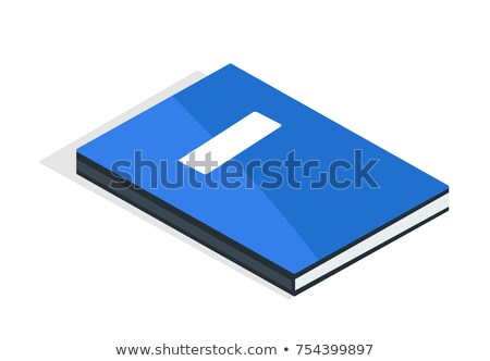 Blue Diary with Place for Name and Surname Vector Stock photo © robuart