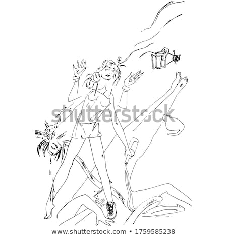 istennő · izolált · fehér · vektor · terv · nő - stock fotó © jiaking1