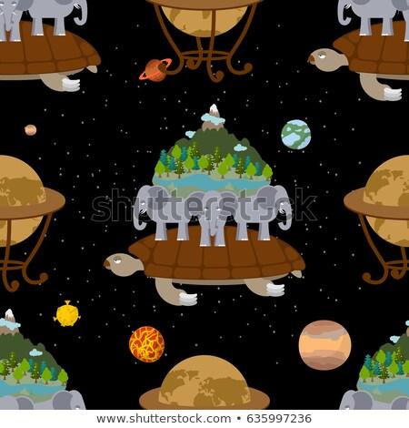 planetă · nori · mare · Lună · pământ · negru - imagine de stoc © popaukropa