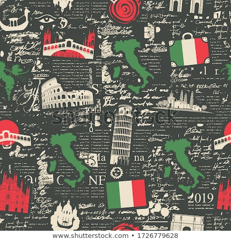 italian seamless pattern vector background of the symbols of it stock photo © popaukropa