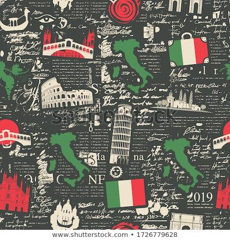 итальянский вектора Италия пиццы Сток-фото © popaukropa