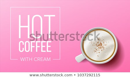 Tasse café mobiles vecteur rose haut Photo stock © pikepicture