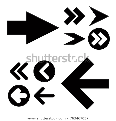 Creative web pictogram with arrow sign Stock photo © studioworkstock