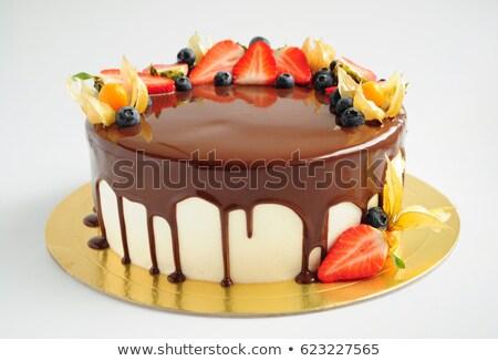 Morango espelho bolos confeitaria cozinhar Foto stock © dolgachov