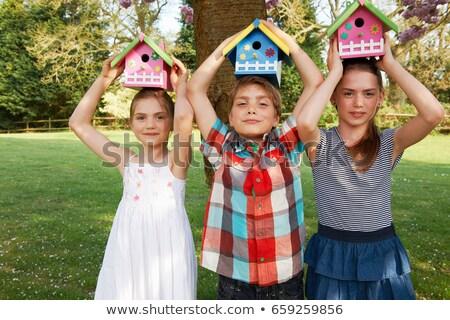девушки задний двор ребенка весело свободу Сток-фото © IS2
