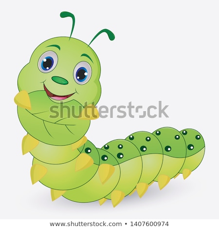Bruco worm cute mascotte ragazzi Foto d'archivio © Krisdog
