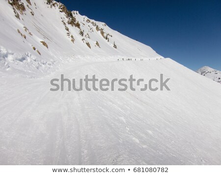 Vers le bas colline Utah USA neige montagne Photo stock © IS2