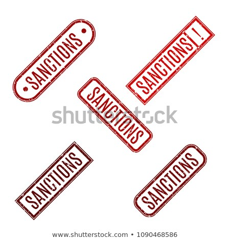 Rectangular Rubber Stamp With Text Sanction Vector Illustration Сток-фото © kup1984