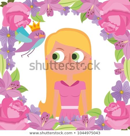 花 鳥 クリップアート 画像 春 抽象的な ストックフォト © vectorworks51