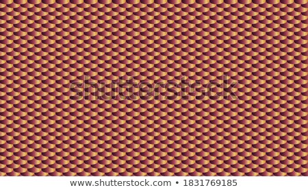 Seamless scale pattern. Abstract roof tiles background. Red squama texture Stock photo © ESSL