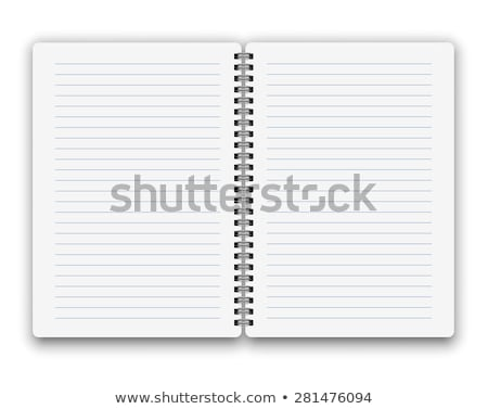Blank open spiral notebook and pen isolated on grey Stock photo © daboost