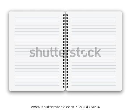 spiraal · notebook · pen · geïsoleerd · witte · kantoor - stockfoto © daboost