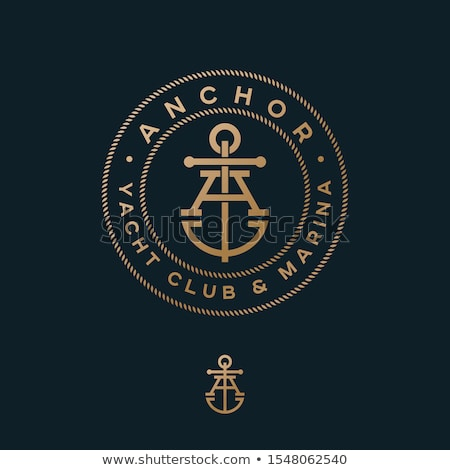 logo · yacht · club · oiseau · pavillon · Retour - photo stock © djdarkflower