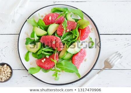 avocado and grapefruit slices stock photo © m-studio
