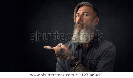 борода татуировка модный Сток-фото © popaukropa