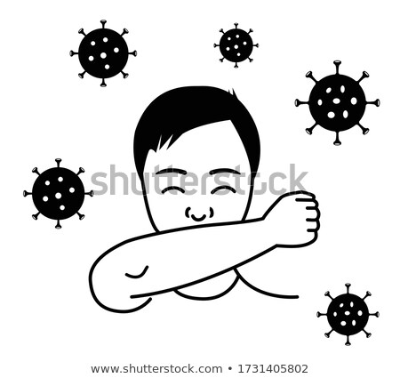 vector of healthy and virus mouth stock photo © bluering