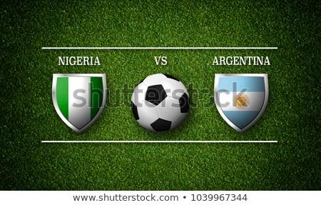Fútbol partido Nigeria vs Argentina fútbol Foto stock © Zerbor