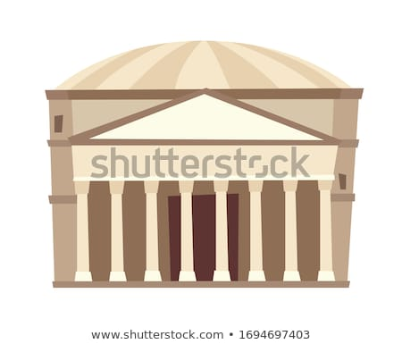 Rome famous building Panteon. Travel sign. Italian landmark Stock photo © Terriana