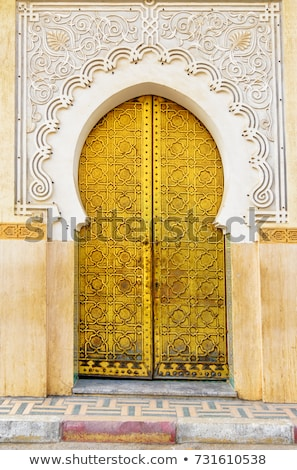 Traditional Moroccan entry doors. Moroccan riads. stock photo © AisberG