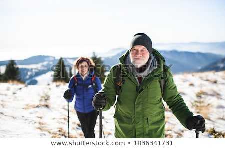 Mountain Hiking in the Winter Stock photo © Kotenko