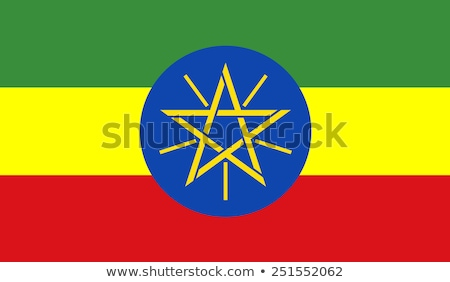 Ethiopia flag, vector illustration Stock photo © butenkow