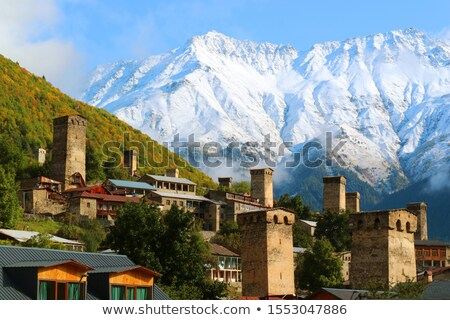 zemo svaneti autumn georgia stock photo © kotenko