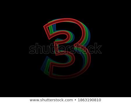 Verde carta tres capas vector ilustración Foto stock © cidepix