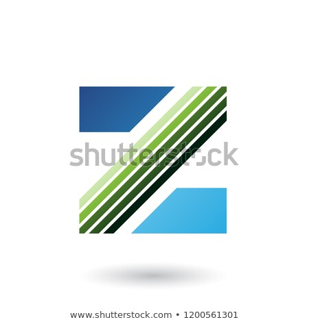 Green and Blue Letter Z with Diagonal Stripes Vector Illustratio Stock photo © cidepix