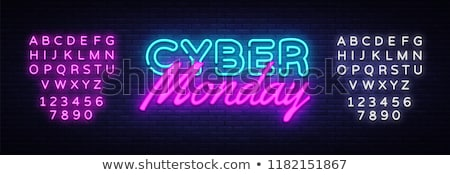 cyber monday neon website banners stock photo © anna_leni