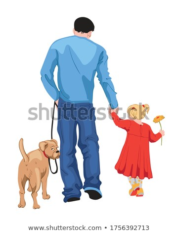 Daughter Holding Hands Of Her Father Stock photo © AndreyPopov