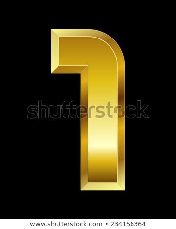 dourado · preto · fonte · número · 3D · 3d · render - foto stock © djmilic