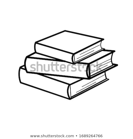 Books Collection with Bookmark Vector Illustration Stock photo © robuart