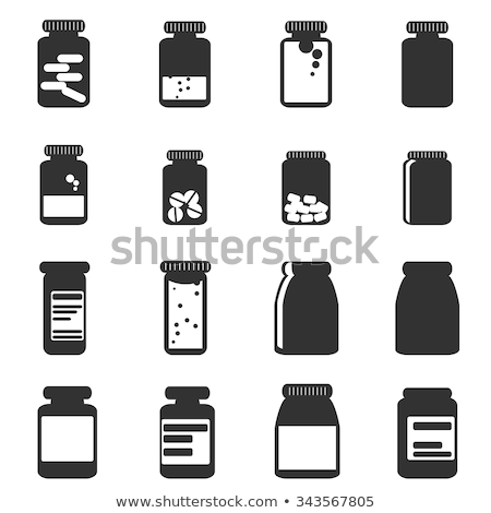 Pills and Capsules in Bottles Vector Illustration Stock photo © robuart