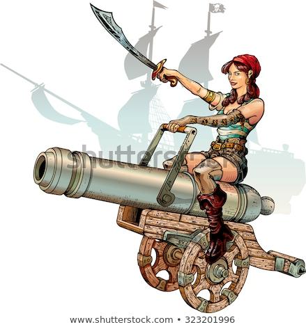 Attractive aiming pirate Stock photo © acidgrey