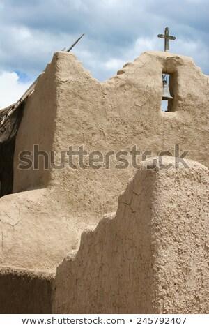 Kilise New Mexico kapı mimari din Hristiyan Stok fotoğraf © boggy