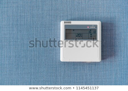 wall display showing household consumptions related to temperature and heating stock photo © ruslanshramko