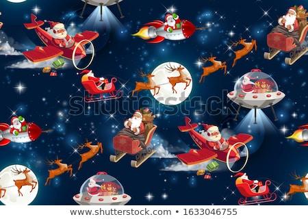 vidám · karácsony · terv · vektor · bézs · végtelen · minta - stock fotó © voysla