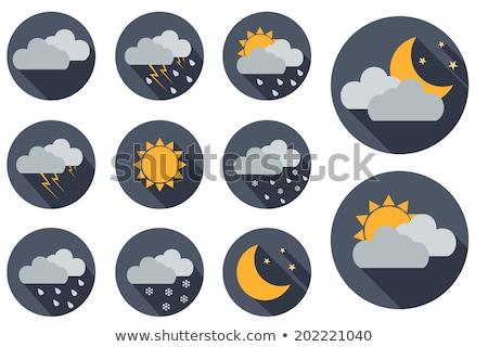Rain vector flat icon Stock photo © smoki