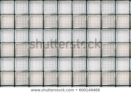 minta · üveg · fal · víz · épület · építkezés - stock fotó © boggy