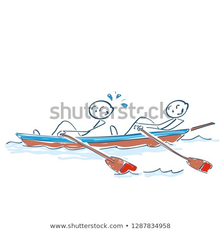 Palo sesión junto remo barco agua Foto stock © Ustofre9