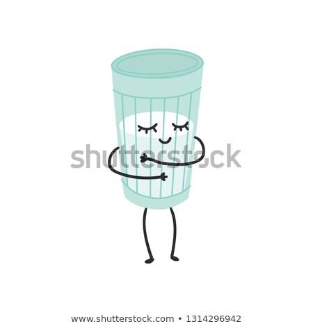 Cartoon Yogurt Cup Hug Stock photo © cthoman